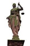 γυναικείο άγαλμα δικαι&o Στοκ Εικόνα