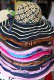 γυναικείο άχυρο καπέλων Στοκ εικόνα με δικαίωμα ελεύθερης χρήσης