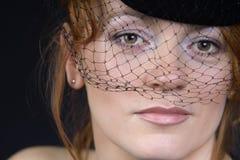 γυναικείο αναδρομικό weil στοκ φωτογραφία με δικαίωμα ελεύθερης χρήσης