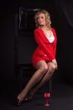 γυναικείο κόκκινο σεξ&omicron Στοκ φωτογραφία με δικαίωμα ελεύθερης χρήσης