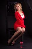 γυναικείο κόκκινο σεξ&omicron Στοκ εικόνα με δικαίωμα ελεύθερης χρήσης