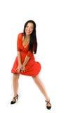 γυναικείο κόκκινο φορε Στοκ φωτογραφίες με δικαίωμα ελεύθερης χρήσης