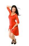 γυναικείο κόκκινο φορε Στοκ Εικόνα