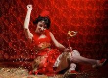 γυναικείο κόκκινο φορε Στοκ φωτογραφία με δικαίωμα ελεύθερης χρήσης