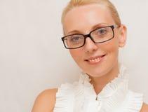 γυναικείο λευκό γυαλ&iot στοκ εικόνα με δικαίωμα ελεύθερης χρήσης