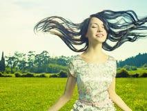 γυναικείο λιβάδι λουλ& Στοκ Εικόνες