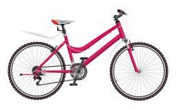 Γυναικείο ρόδινο ποδήλατο ελεύθερη απεικόνιση δικαιώματος