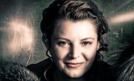 γυναικείο χαμόγελο Στοκ φωτογραφία με δικαίωμα ελεύθερης χρήσης