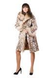 γυναικείο leopard παλτών προκλ στοκ φωτογραφίες με δικαίωμα ελεύθερης χρήσης