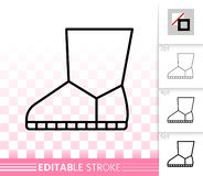 Γυναικών διανυσματικό εικονίδιο γραμμών μποτών απλό μαύρο ελεύθερη απεικόνιση δικαιώματος