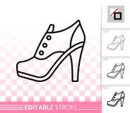 Γυναικών διανυσματικό εικονίδιο γραμμών παπουτσιών απλό μαύρο διανυσματική απεικόνιση