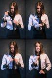Γυναικών κόμβων καθορισμένη διαδικασία φωτογραφιών δεσμών χρήσιμη διδακτική στοκ φωτογραφίες με δικαίωμα ελεύθερης χρήσης