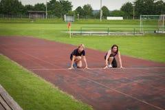 Γυναικών υπαίθριο racecourse Στοκ φωτογραφία με δικαίωμα ελεύθερης χρήσης