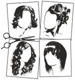 Γυναικών hairstyles Στοκ φωτογραφίες με δικαίωμα ελεύθερης χρήσης