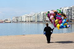 Γυρολόγος σε Θεσσαλονίκη, Ελλάδα Στοκ φωτογραφία με δικαίωμα ελεύθερης χρήσης