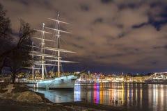 Γυρολόγος AF τή νύχτα Στοκ Εικόνες