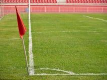 Γωνία αγωνιστικών χώρων ποδοσφαίρου Στοκ Φωτογραφίες