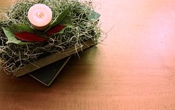 Γωνία ανάγνωσης Χριστουγέννων στοκ φωτογραφία με δικαίωμα ελεύθερης χρήσης