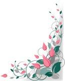 γωνία ανασκόπησης floral Στοκ Εικόνες