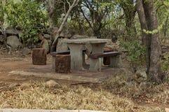 Γωνία για την ανάπαυση στο εθνικό πάρκο Pilanesberg στοκ εικόνα