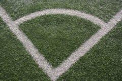 Γωνία ενός αγωνιστικού χώρου ποδοσφαίρου Στοκ εικόνα με δικαίωμα ελεύθερης χρήσης