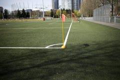 Γωνία ενός γηπέδου ποδοσφαίρου Στοκ φωτογραφία με δικαίωμα ελεύθερης χρήσης