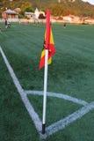 Γωνία ενός γηπέδου ποδοσφαίρου Στοκ Φωτογραφίες