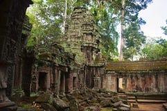 Γωνία ενός μοναστηριού στο TA Prohm, Angkor, Καμπότζη Στοκ φωτογραφία με δικαίωμα ελεύθερης χρήσης