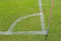Γωνία ενός πεδίου ποδοσφαίρου (ποδόσφαιρο) Στοκ εικόνα με δικαίωμα ελεύθερης χρήσης