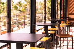 Γωνία καφέ στη καφετερία στοκ φωτογραφία