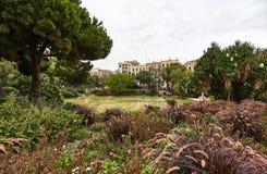 Γωνία της αβλαβούς φύσης μεταξύ των οδών της Βαρκελώνης Στοκ εικόνες με δικαίωμα ελεύθερης χρήσης