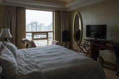 γωνία ως εσωτερικό ξενοδοχείων που πολύ πιθανό πλάνο δωματίων εμφανίζει ευρέως Στοκ Εικόνες