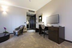 γωνία ως εσωτερικό ξενοδοχείων που πολύ πιθανό πλάνο δωματίων εμφανίζει ευρέως Στοκ Φωτογραφία