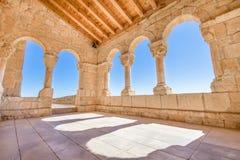 Γωνία archs στην εκκλησία Virgin Rivero στο SAN Esteban de Gormaz Στοκ εικόνα με δικαίωμα ελεύθερης χρήσης