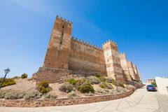 Γωνία Burgalimar Castle στο Λα Encina Banos de στοκ εικόνες με δικαίωμα ελεύθερης χρήσης