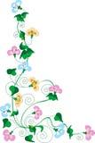 γωνία floral Στοκ Εικόνες