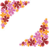 γωνίες floral Στοκ εικόνα με δικαίωμα ελεύθερης χρήσης