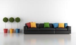 γωνιακό βαγόνι εμπορευμάτων καναπέδων καθιστικών γευμάτων εσωτερικό Στοκ Εικόνες