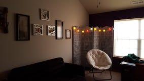 γωνιακό βαγόνι εμπορευμάτων καναπέδων καθιστικών γευμάτων εσωτερικό Στοκ Φωτογραφίες