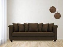 γωνιακό βαγόνι εμπορευμάτων καναπέδων καθιστικών γευμάτων εσωτερικό Στοκ φωτογραφία με δικαίωμα ελεύθερης χρήσης