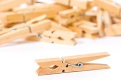 γόμφοι ενδυμάτων ξύλινοι Στοκ Εικόνα