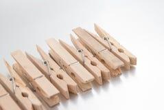 γόμφοι ενδυμάτων ξύλινοι Στοκ Εικόνες