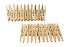 γόμφοι ενδυμάτων ξύλινοι Στοκ Φωτογραφία