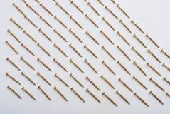 Γόμφοι στο λευκό Στοκ φωτογραφίες με δικαίωμα ελεύθερης χρήσης