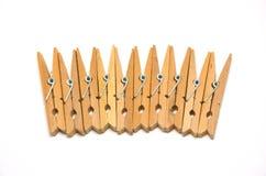 γόμφοι 1 ενδυμάτων ξύλινοι στοκ εικόνες