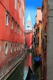 Γόνδολα στη Βενετία, Ιταλία Στοκ Εικόνες