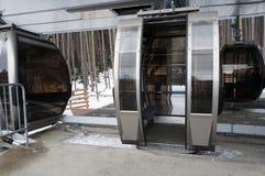 Γόνδολα χιονοδρομικών κέντρων Στοκ Εικόνες