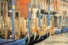 γόνδολες Ιταλία Βενετία Στοκ φωτογραφίες με δικαίωμα ελεύθερης χρήσης