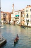 γόνδολα Βενετία καναλιών Στοκ Φωτογραφίες