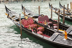 Γόνδολα στη Βενετία στην Ιταλία Στοκ εικόνες με δικαίωμα ελεύθερης χρήσης